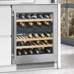 Retrofit kit for under-worktop wine appliances
