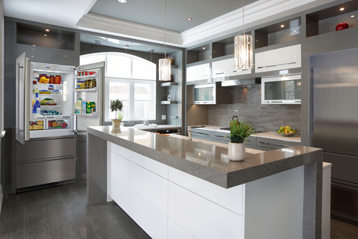 Beau Open Plan Kitchens Require Design Pieces To Interact With Their Environment.