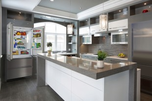 Open-plan kitchens require design-pieces to interact with their environment.