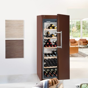 Wine storage cabinets: the zoom view shows the interior temperature distribution.