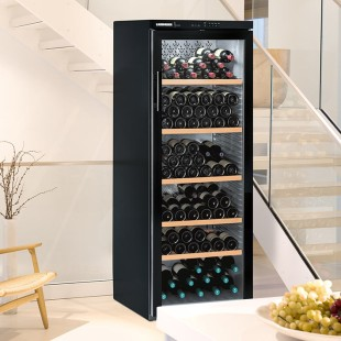 Multi-temperature wine cabinets: the zoom view shows the interior temperature distribution.