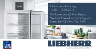 At the Internorga 2015 trade fair, Liebherr is presenting refrigerating and freezing equipment for commercial use.