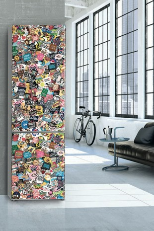 The exclusive and limited StickerArt fridge from Liebherr